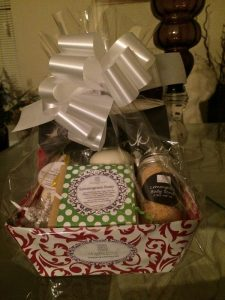 Simply Shopping Blog Gift Basket with Bow